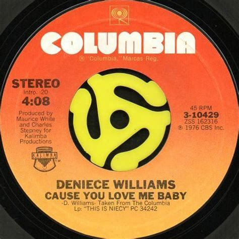 Free Cause Of Records Deniece Williams Free B W Cause You Me Baby 45 S Breakwell Records