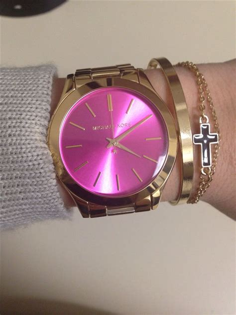 michael kors light pink watch obsessed with my new michael kors watch pink mk