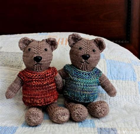 how to knit a simple teddy nearly no seams knit teddy allfreeknitting