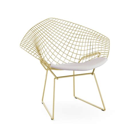 Bertoia Lounge Chair by Knoll Harry Bertoia Lounge Chair In Gold Gr Shop