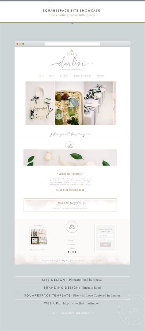 squarespace five template squarespace design guild that s darlin by pinegate road