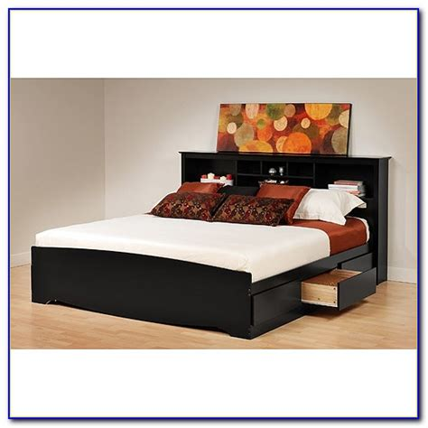 platform bed with bookcase headboard king size platform bed plans with storage beds home