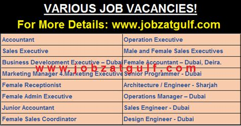 job openings uae jobzatgulfcom