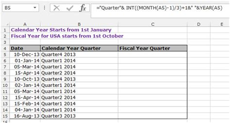 format date as quarter in excel how to calculate the quarter in microsoft excel