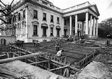 white house renovation photos fascinating photos of the white house being gutted and rebuilt in 1950 tested