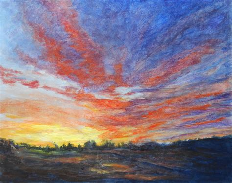 acrylic painting sunset the gallery for gt sunset acrylic painting