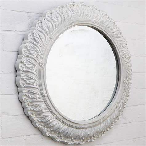 Handcrafted Mirrors - circular ornate mirror by crafted mirrors