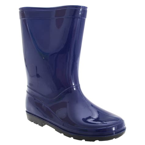 childrens boots childrens unisex plain welly wellington boots ebay