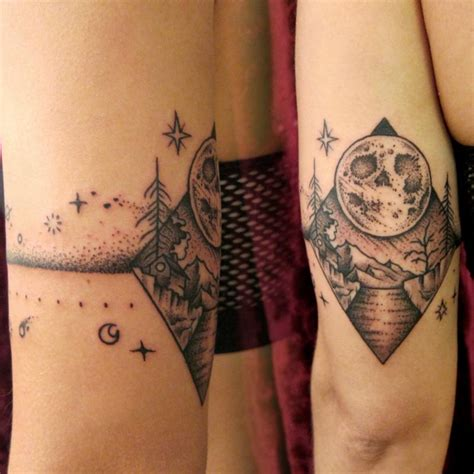 tattoo now skull moon armband by dedleg tattoonow