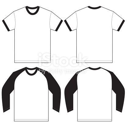 Black White Ringer Tshirt Design Template Stock Vector Art More Images Of 2015 500615902 Istock Ringer T Shirt Template