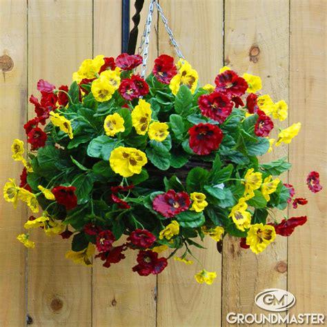 decorative garden hanging baskets decorative 30cm artificial pansy ball flower hanging