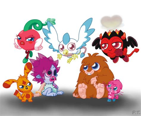 moshi monsters painting the new moshi by psychoteensie on deviantart