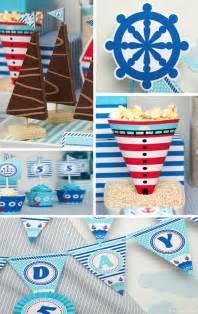 Nautical Birthday Party Theme - kara s party ideas nautical sailboat birthday party planning ideas supplies idea cake