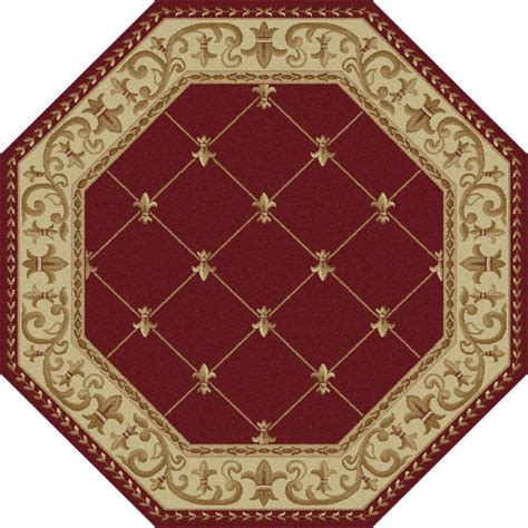 5ft rug tayse rugs sensation 5 ft 3 in x 5 ft 3 in octagon traditional area rug 4880 6