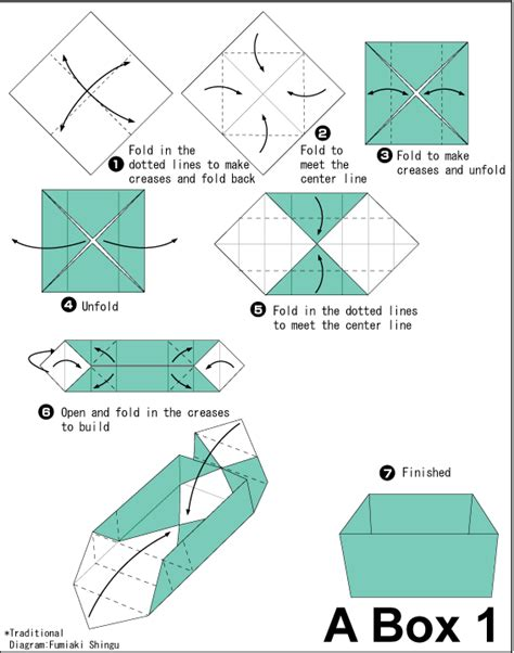 Origami Box Diagram - box 1 easy origami for