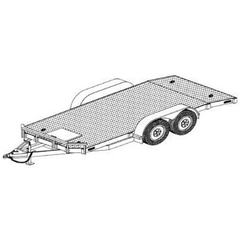 blueprint drawing free tandem car carrier trailer blueprints trailer blueprints