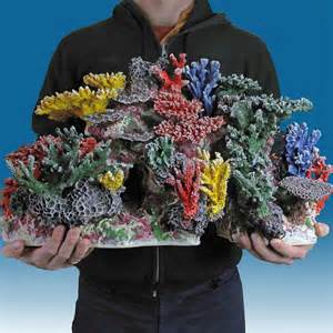 INSTANT REEF® R064 Medium Coral Reef Aquarium Décor for Marine Fish