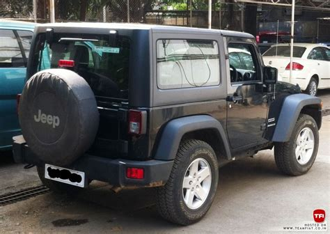 jeep wrangler india 2 door jeep wrangler sport spotted in india launch soon