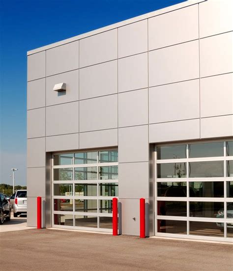 commercial roll up overhead garage 13 chi model 3295 commercial aluminum view with clear glass sectional roll up overhead