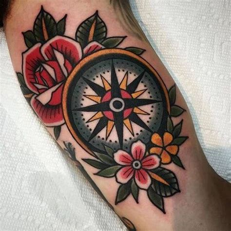 tattoo compass with rose 25 best ideas about traditional compass tattoo on