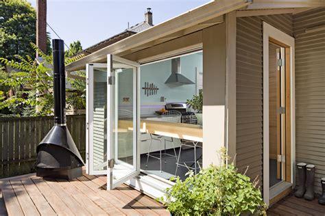 bi fold doors Deck Contemporary with bifold door bifold