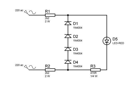 resistor untuk led 220 volt menyalakan led dari tegangan 220 vac elektrologi