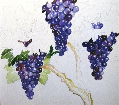 watercolor grapes tutorial grape painting tutorial 4 by houseofchabrier on deviantart