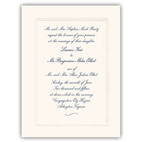 Wedding Invitations Embossed Border by Embossed Border Wedding Invitations Paperstyle