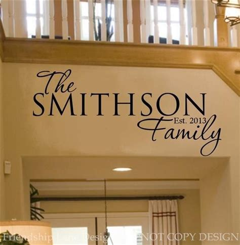 custom wall stickers words personalized family name date vinyl wall decal words