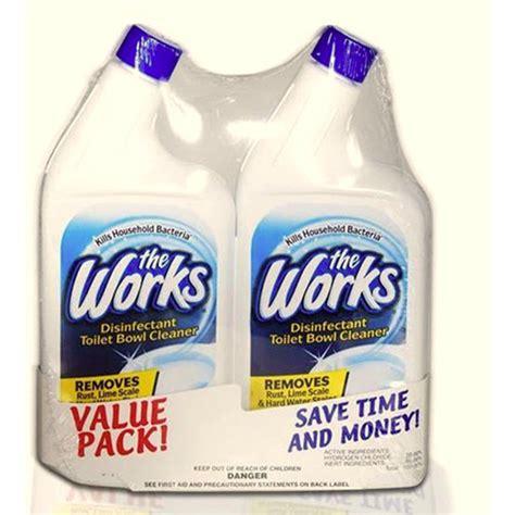 works bathroom cleaner shop the works 32 fl oz toilet bowl cleaner at lowes com