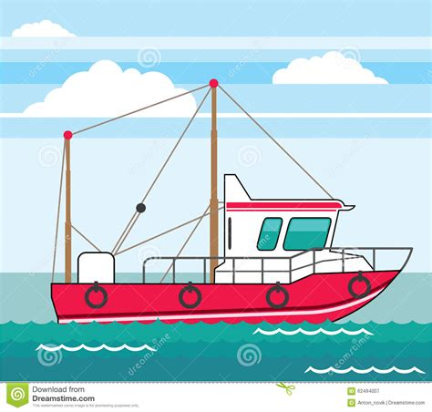 fishing boat clipart vector fishing boat vector eps stock vector illustration of