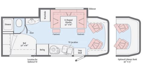 24 foot motorhome floor plans 24 foot motorhome floor plans new 2016 winnebago view 24j