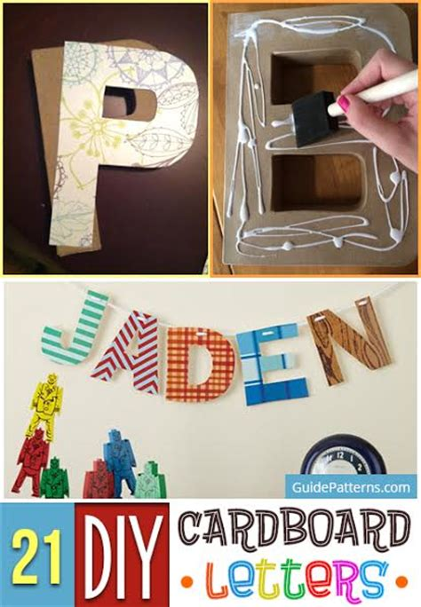 diy cardboard letters guide patterns