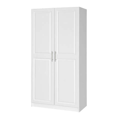 White Wardrobe Cupboard Closetmaid 30 In 2 Door Wardrobe Cabinet 12298 The Home