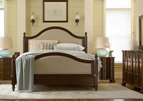 river house collection low post bed bedside chest