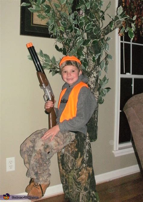 hunter   tree stand diy illusion halloween costume