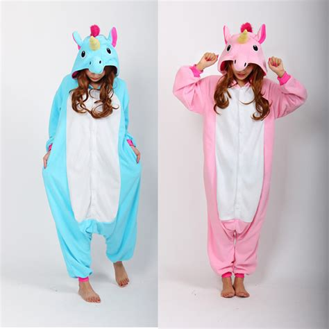 pajamas unicorn pink 2016 blue and pink unicorn onesies pijama winter sleepwear