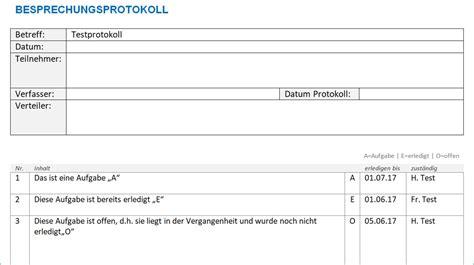 Vorlage Word Protokoll Protokoll Vorlage Word Alle Meine Vorlagen De