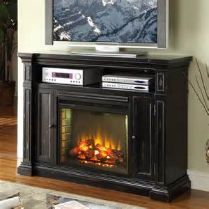 Rustic Electric Fireplace Shop Legends Furniture 58 In W 4 600 Btu Rustic Black Wood Fan Forced Electric Fireplace With