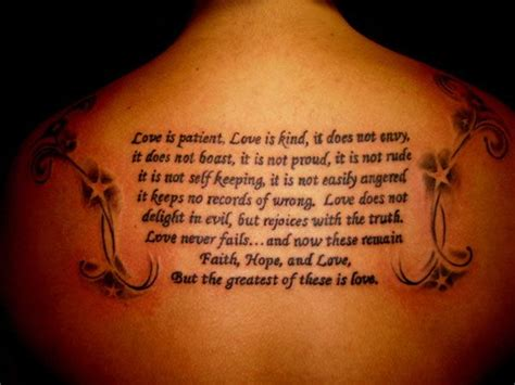 1 corinthians 13 tattoo design 1 corinthians 13 4 8 niv