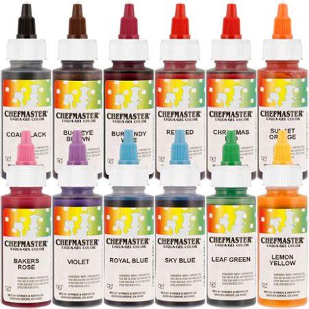 chefmaster food coloring chefmaster by us cake supply 2 3 ounce liqua gel cake food