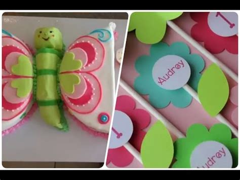 decoracion de fiestas infantiles de flores y mariposas happy birthday
