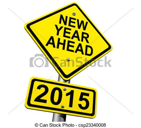 new year 2015 illustration stock illustration of new year ahead 2015 road sign