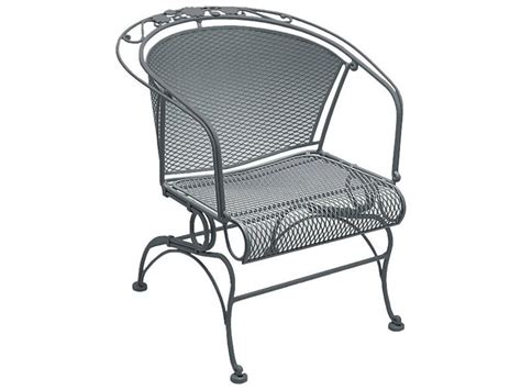 Wrought Iron Lounge Chair Patio Woodard Briarwood Wrought Iron Coil Barrel Chair 400088