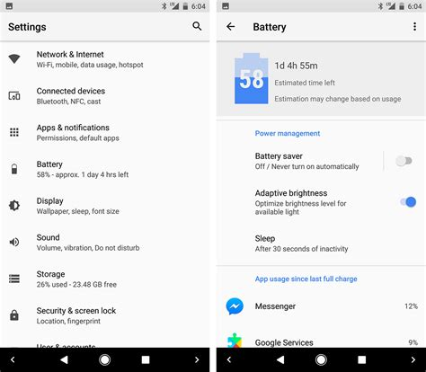 android app settings five of the changes coming with android o