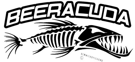 funny fishing boat decals funny fishing sticker barracuda beeracuda sticker for boat