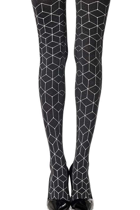 grey patterned tights net print geometric patterned tights grey zohara