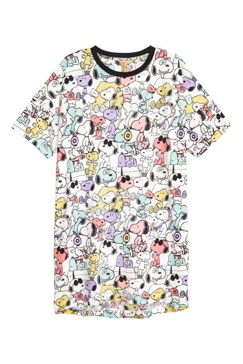 Uq Hm Set Snoopy patterned t shirt white snoopy sale h m us