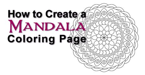 coloring book app tutorial how to create a mandala coloring page