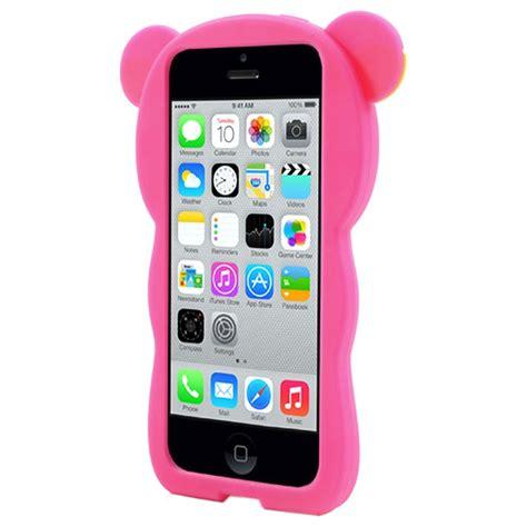 Casing Hp Cover Iphone 5 5s 5c 6 6s 6 Plus 6s Plus Armor iphone 5c 3d silicone pink
